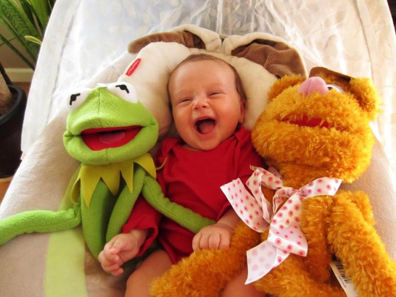 The muppets never met a happier baby.