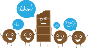 Bertha's Chocolate Mascot digital illustration