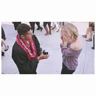 He popped the question!
