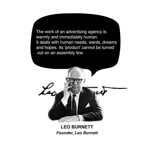 Leo Burnett tells it well.